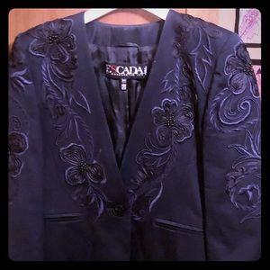 Escada embroidered dressy blazer